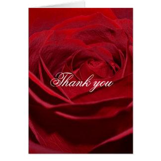 Schöne Rote Rose danken Ihnen Karte
