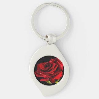 Schöne Rote Rose Schlüsselanhänger