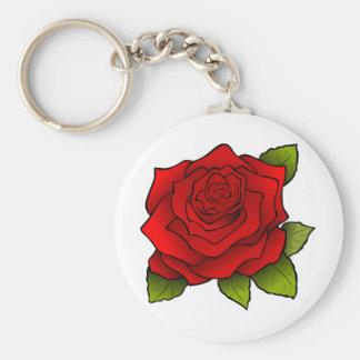Schöne Rote Rose Standard Runder Schlüsselanhänger