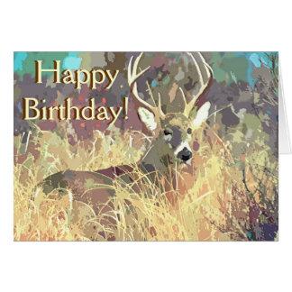 Schöne Rotwild-Geburtstags-Karte