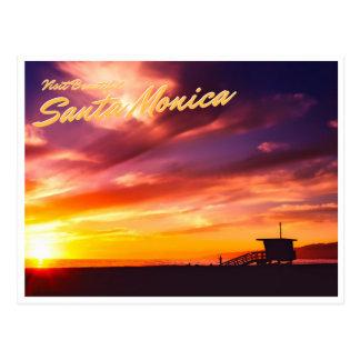 Schöne Santa Monica Postkarte