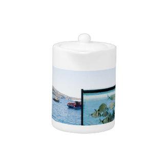 Schöne Santorini Seeansicht