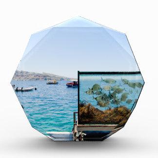 Schöne Santorini Seeansicht Acryl Auszeichnung
