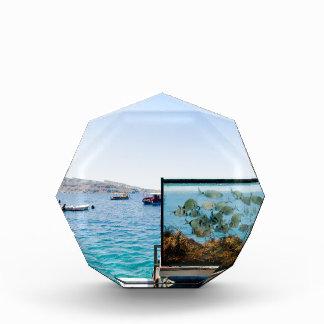 Schöne Santorini Seeansicht Auszeichnung