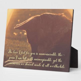 Schöne Schäferhund-Haustier-Gedenktafel Fotoplatte