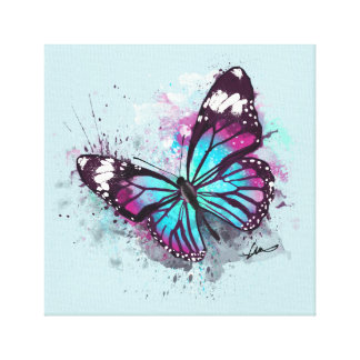 Schöne Schmetterlings-Illustration Leinwanddruck