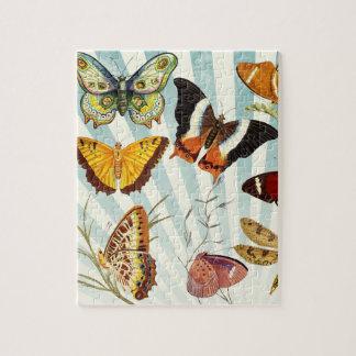 Schöne Schmetterlings-Muster-Natur-Puzzle Puzzle