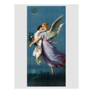 Schöne Schutzengel-Malerei Postkarte