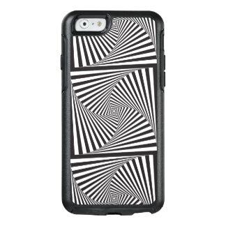 Schöne Schwarz-weiße gewundene optische Illusion OtterBox iPhone 6/6s Hülle