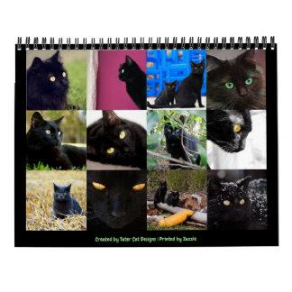 Schöne schwarze Katzen-12-monatige Wand 2018 Abreißkalender