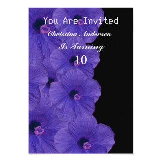 Schöne schwarze Rosen-Einladungs-Karte 12,7 X 17,8 Cm Einladungskarte