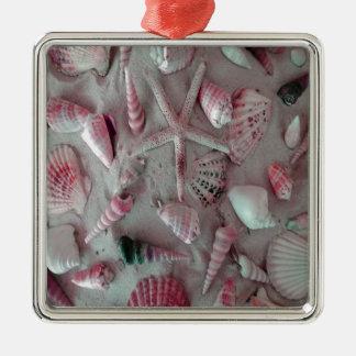 Schöne Seashells Silbernes Ornament