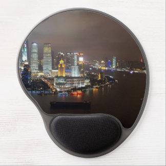 Schöne Shanghai-China in der Nacht Gel Mousepad