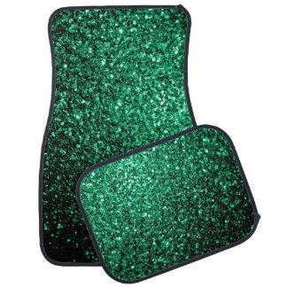 Schöne Smaragdgrün-Glitter-Glitzern Automatte