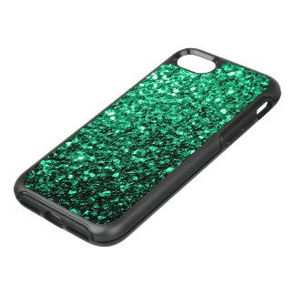 Schöne Smaragdgrün-Glitter-Glitzern OtterBox Symmetry iPhone 8/7 Hülle