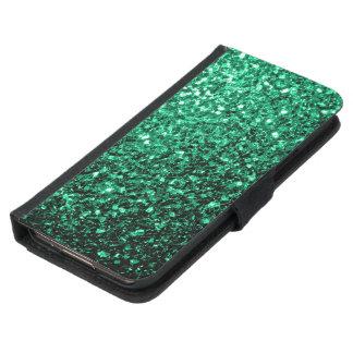 Schöne Smaragdgrün-Glitter-Glitzern Samsung Galaxy S5 Geldbeutel Hülle