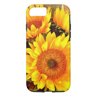 Schöne Sonnenblume-Blumenstrauß-Geschenke iPhone 7 Hülle