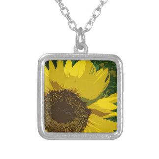 Schöne Sonnenblume Versilberte Kette