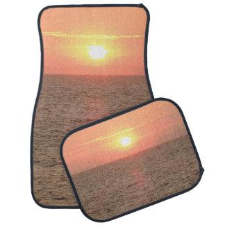Schöne Sonnenuntergang-Auto-Boden-Matten (volles Automatte