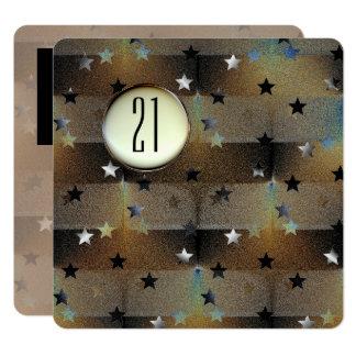 Schöne Sterne mit einer Fotografie-Schablone Karte