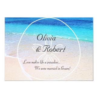 Schöne Strand-Sand-Dollar-Hochzeit in Urlaubsort 12,7 X 17,8 Cm Einladungskarte
