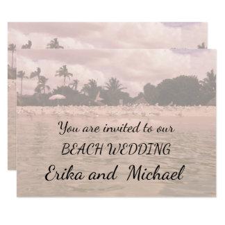 Schöne Strand-Szenen-Malerei-Hochzeits-Einladung Karte