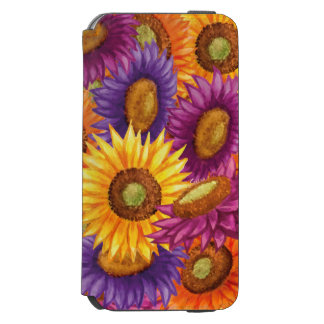 Schöne Sun-Blumen Incipio Watson™ iPhone 6 Geldbörsen Hülle