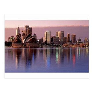 Schöne Sydney-Skyline Postkarte