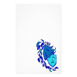 Schöne Theater-Masken Briefpapier