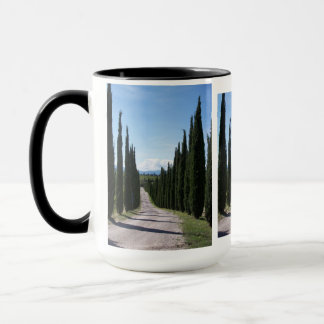 Schöne toskanische Zypresse Tasse