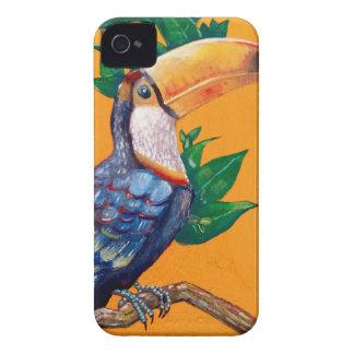 Schöne Toucan Vogel-Malerei iPhone 4 Case-Mate Hülle