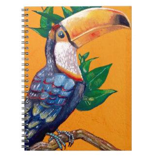 Schöne Toucan Vogel-Malerei Notizblock