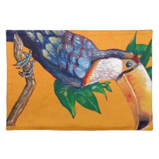 Schöne Toucan Vogel-Malerei Tischset