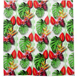 Schöne Trendy tropische das Blatt-Blume der Frauen Duschvorhang