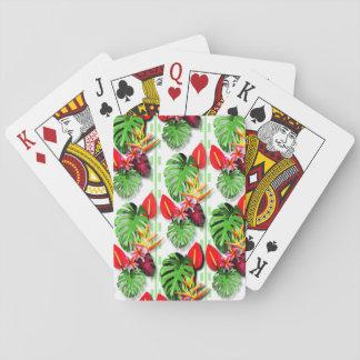 Schöne Trendy tropische das Blatt-Blume der Frauen Spielkarten