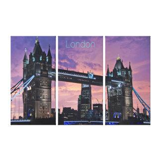 Schöne Turm-Brücke Londons England nachts Leinwanddruck