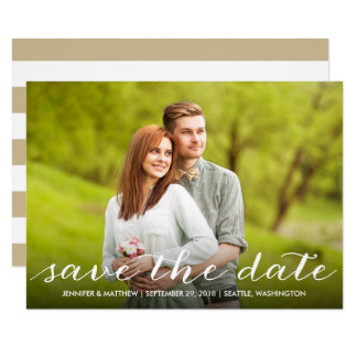 Schöne Typografie-Foto-Save the Date Karte
