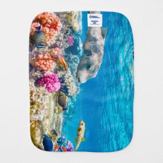 schöne Unterwasserfischwelt, wather Baby Spucktuch