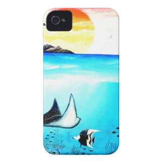 Schöne Unterwasserszenen-Malerei iPhone 4 Case-Mate Hülle