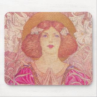 Schöne viktorianische Ära-Frauen-Mausunterlage Mousepad