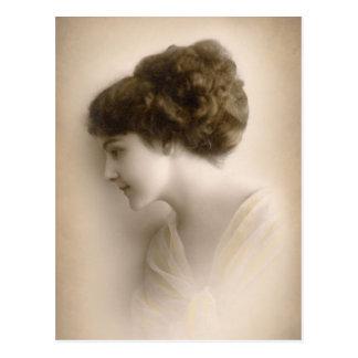 Schöne viktorianische Dame Portrait Postkarte
