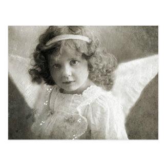 Schöne Vintage Engels-Mädchen-Postkarte Postkarte