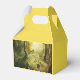 Schöne Vintage Kaninchen-Waldszene Ostern Geschenkschachtel
