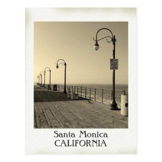 Schöne Vintage Santa Monica Postkarte! Postkarte