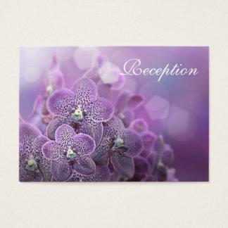 Schöne violette Orchideen, die Empfangs-Karten Visitenkarte