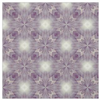 Schöne violette quadratische Blumenfliesen Stoff