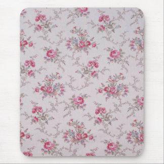 Schöne weiche Vintage Rosen und Blätter Mousepad