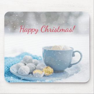 Schöne Weihnachtsatmosphäre mit heißer Schokolade Mousepad