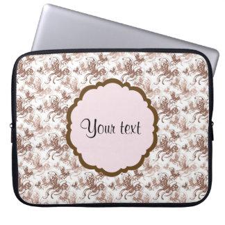 Schöne Wirble Schmetterlinge Browns Laptopschutzhülle