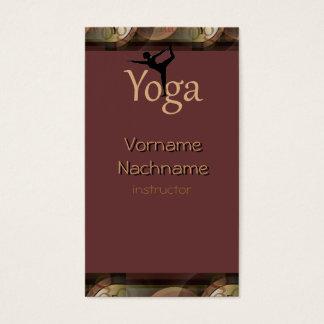 Schöne Yogalehrer Visitenkarte